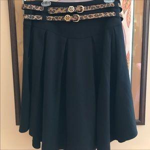 NWOT Cato Black Skirt w/ Animal Belts Size 12